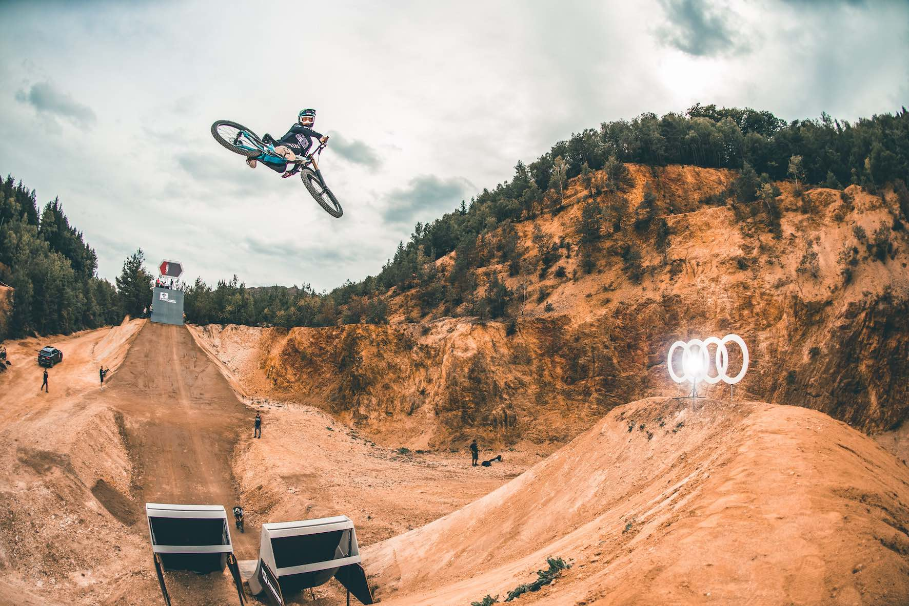 Interview with Bienvenido Aguado about the 2019 Audi Nines Slopestyle Mountain Bike event