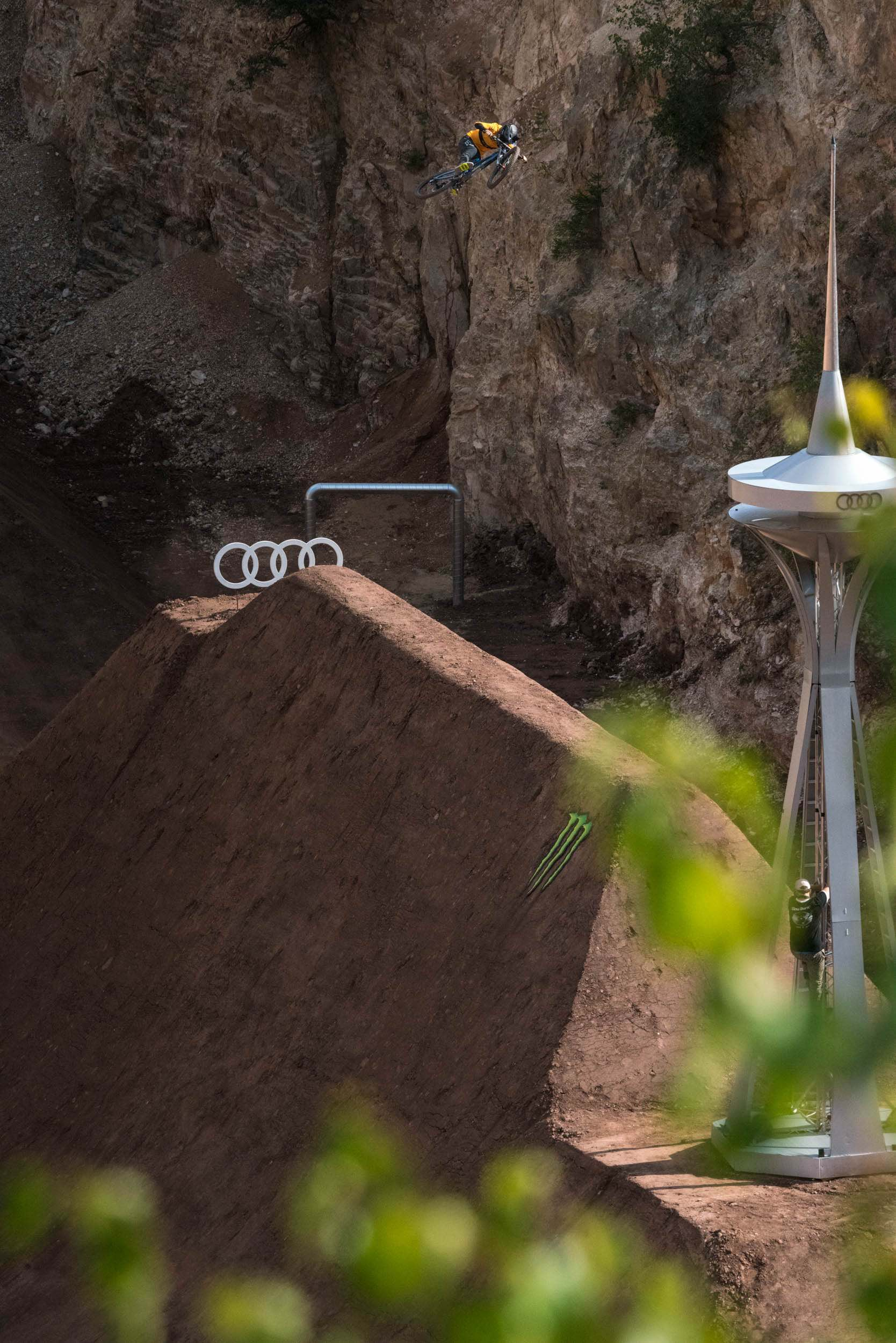 We interview Audi Nines Freeride Mountain Bike rider, Tom Isted