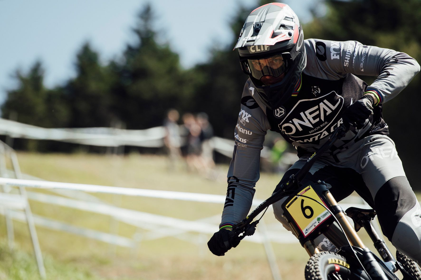 Greg Minnaar racing the 2019 UCI Downhill MTB World Cup in Snowshoe