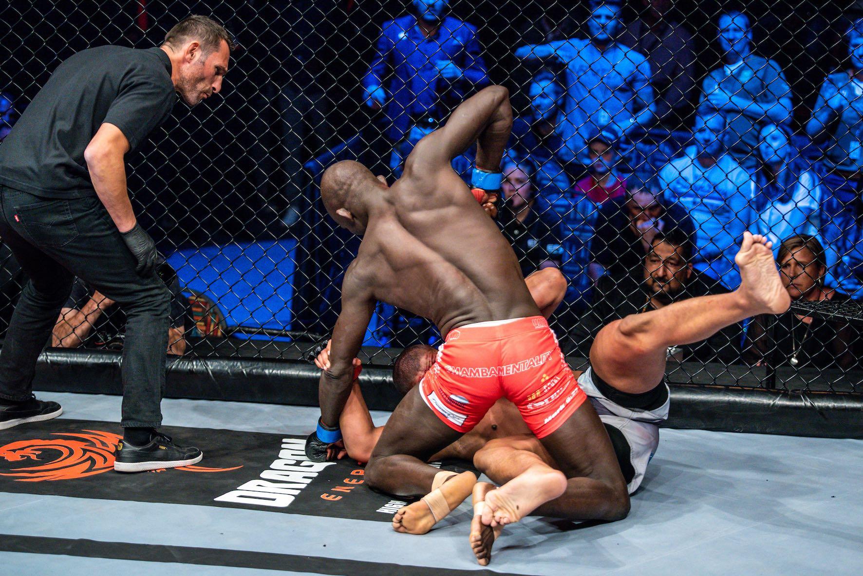 EFC 82 Light Heavyweight Title Fight between Luke Michael and Themba Gorimbo