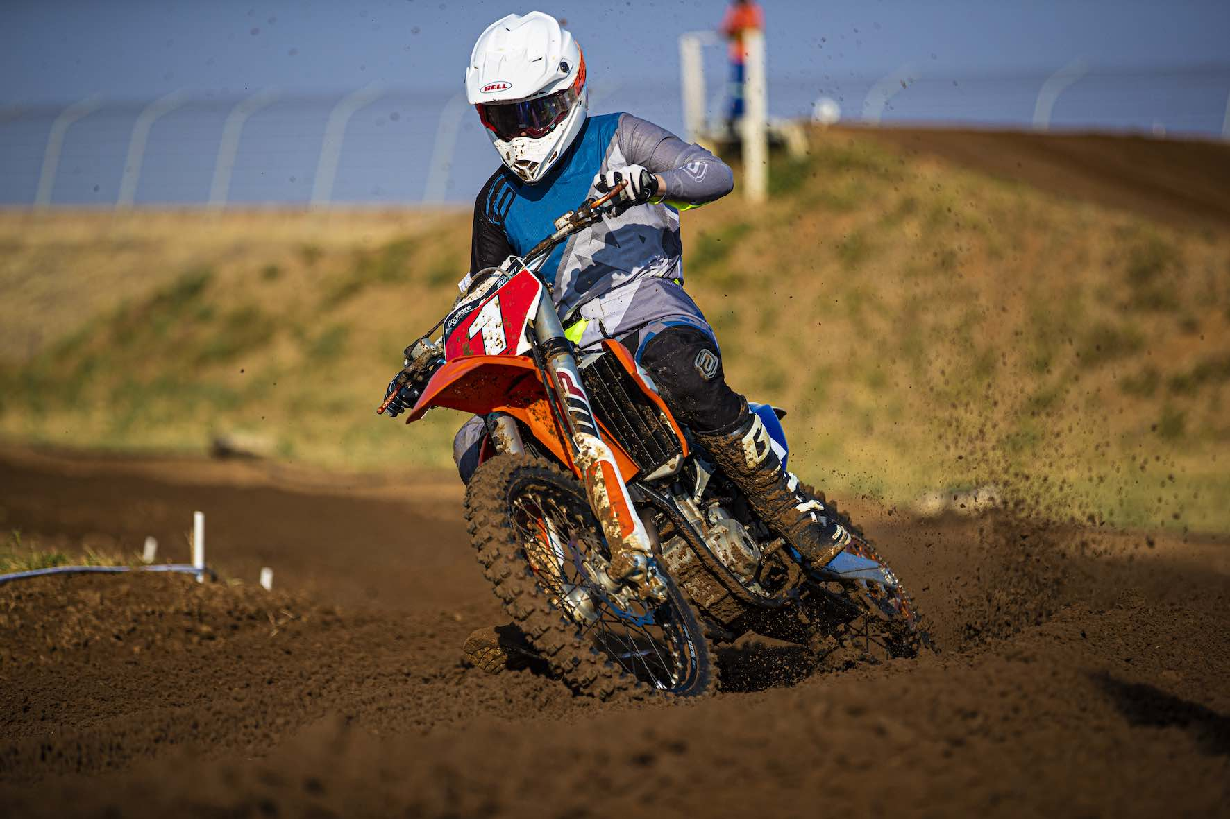 Kayla Raaff racing the penultimate round of the 2019 South African Motocross National in Welkom