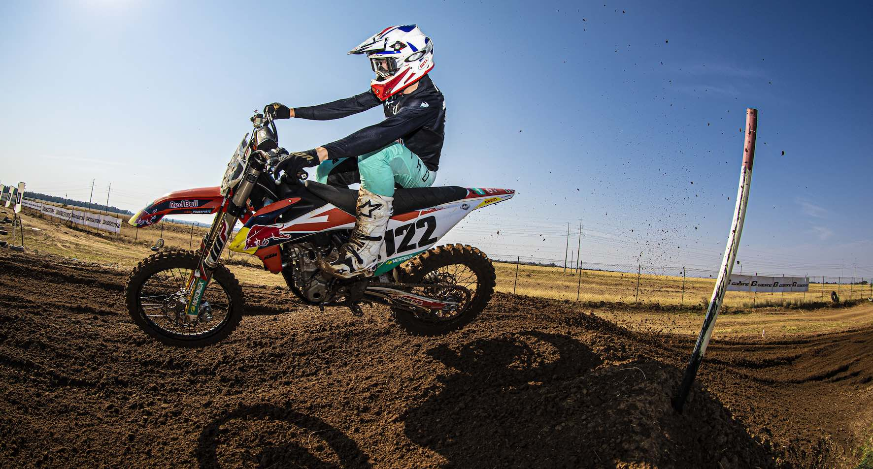 Camden Mc Lellen racing the penultimate round of the 2019 South African Motocross National in Welkom