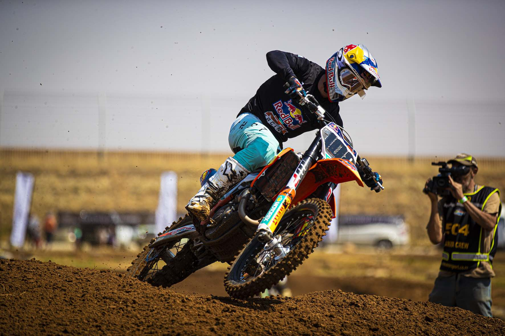 Kerim Fitz-Gerald racing the penultimate round of the 2019 South African Motocross National in Welkom