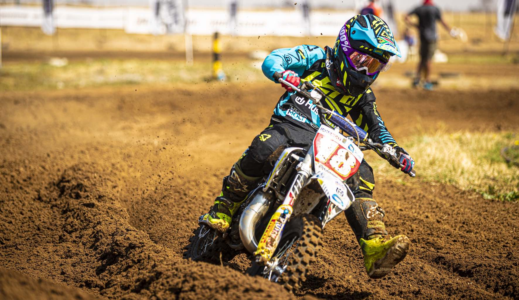 Neil van der Vyver racing the penultimate round of the 2019 South African Motocross National in Welkom