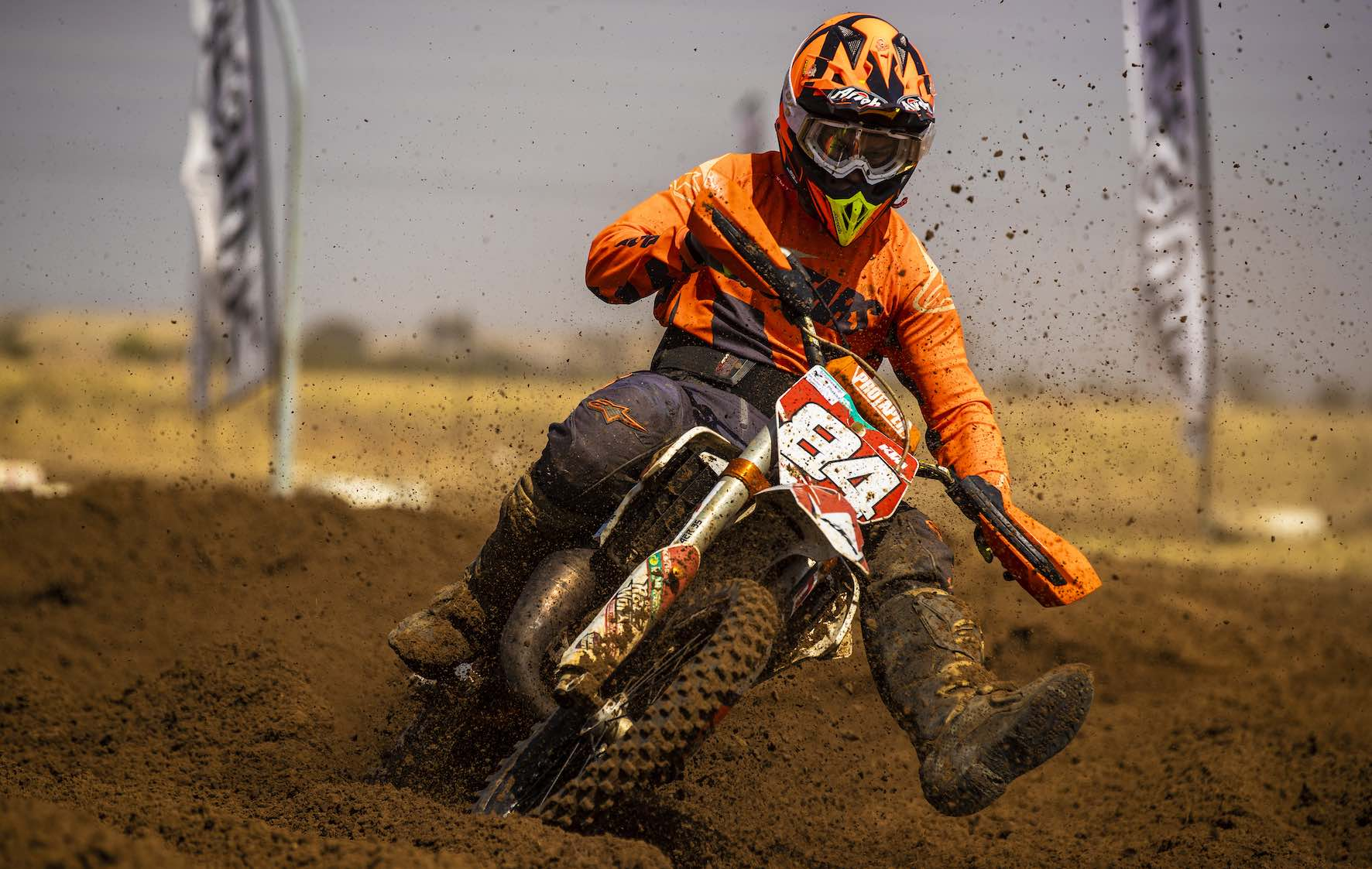 Leonard du Toit racing the penultimate round of the 2019 South African Motocross National in Welkom