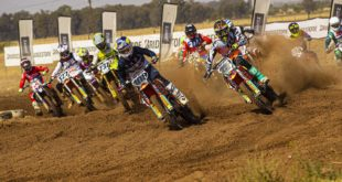 MX2 start at the Motocross nationals in Welkom