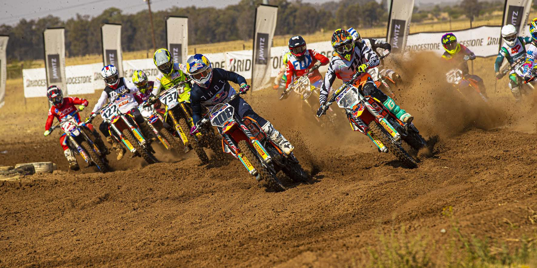 MX2 starts at the Motocross nationals in Welkom