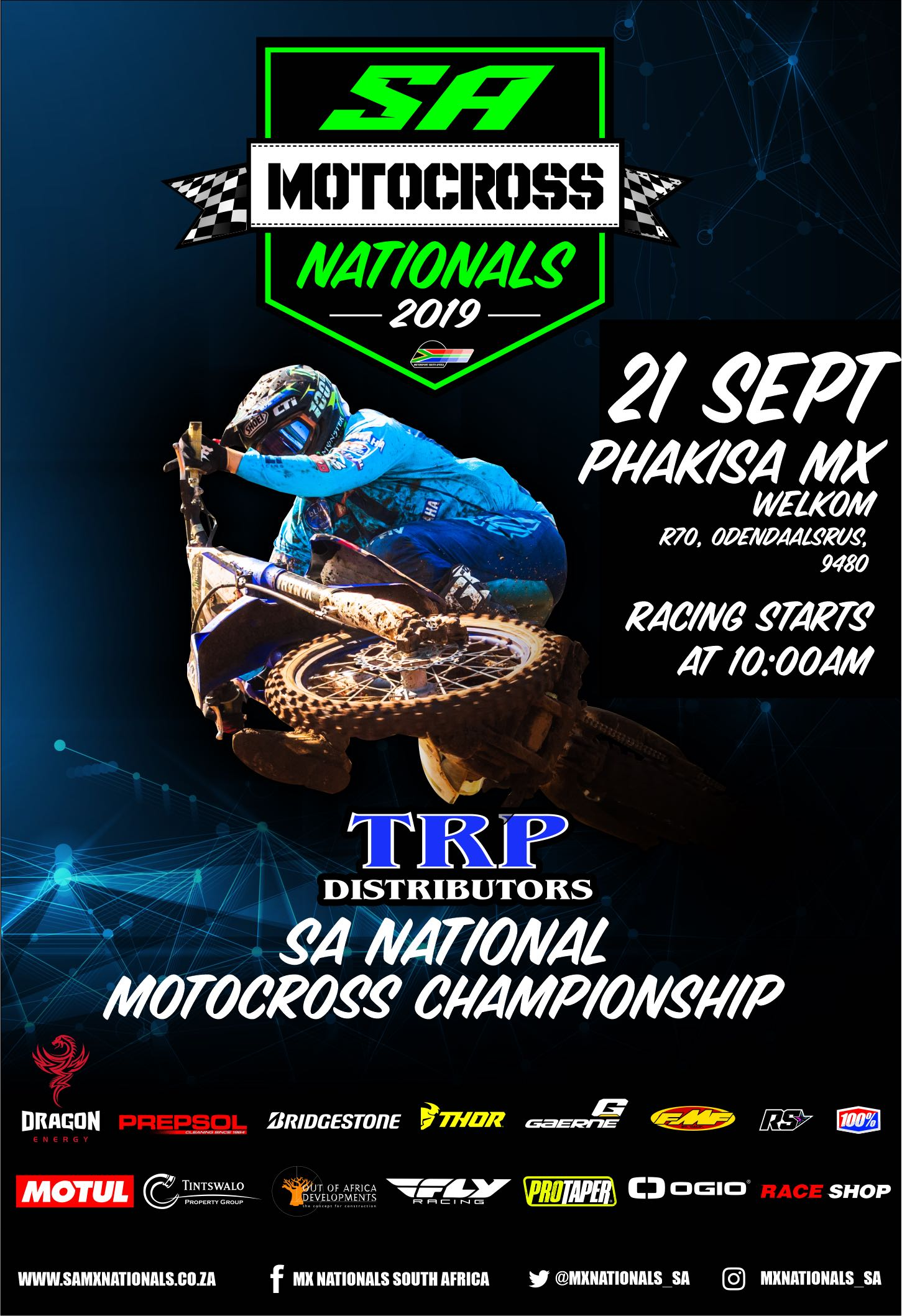 Details for the penultimate round of the 2019 TRP Distributors South African National Motocross Championship