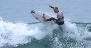 Ryan Lightfoot surfing in the 2019 Sea Harvest South African Junior Surfing Championships