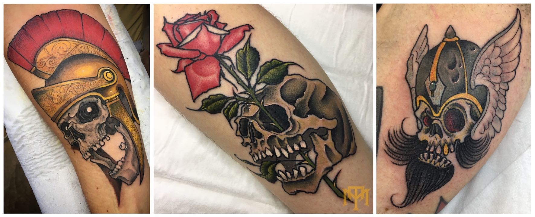 A selection of tattoos done by Nic Lewis