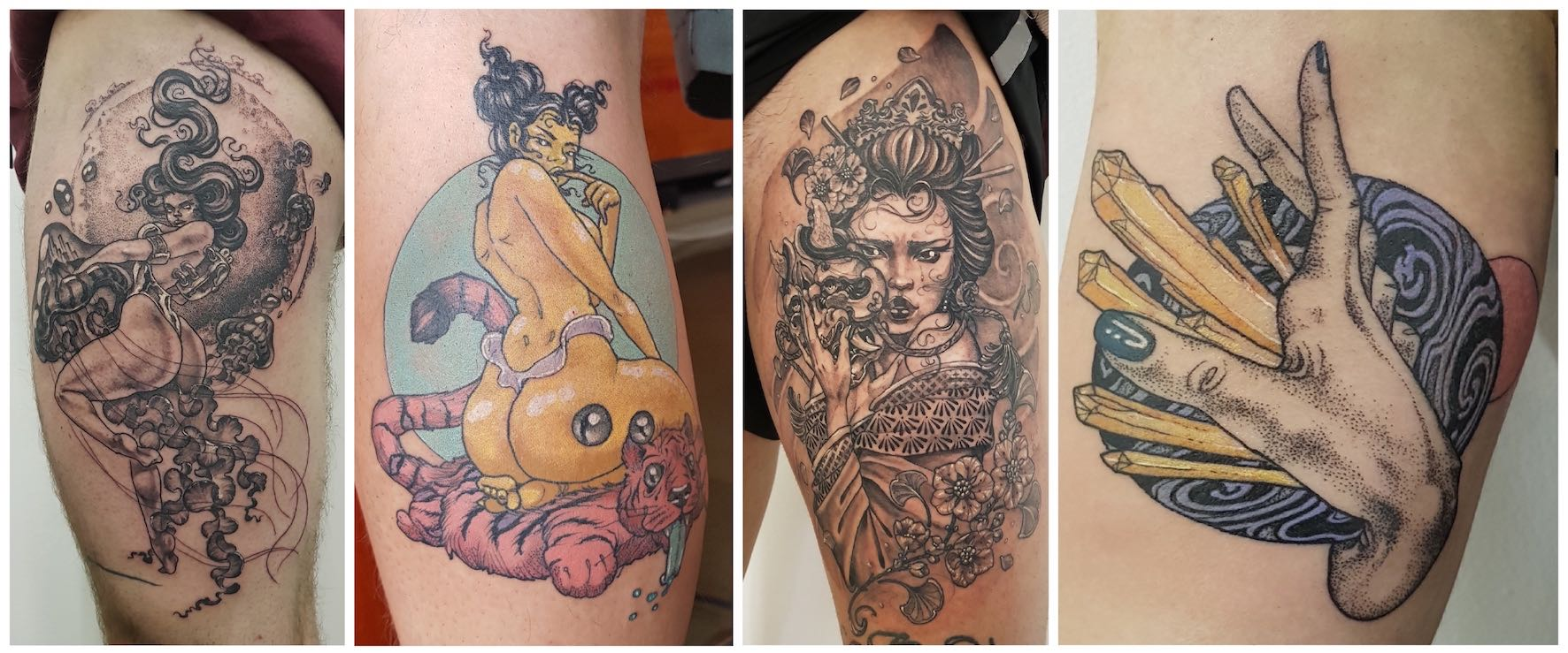 A selection of tattoos done by Séona Stewart