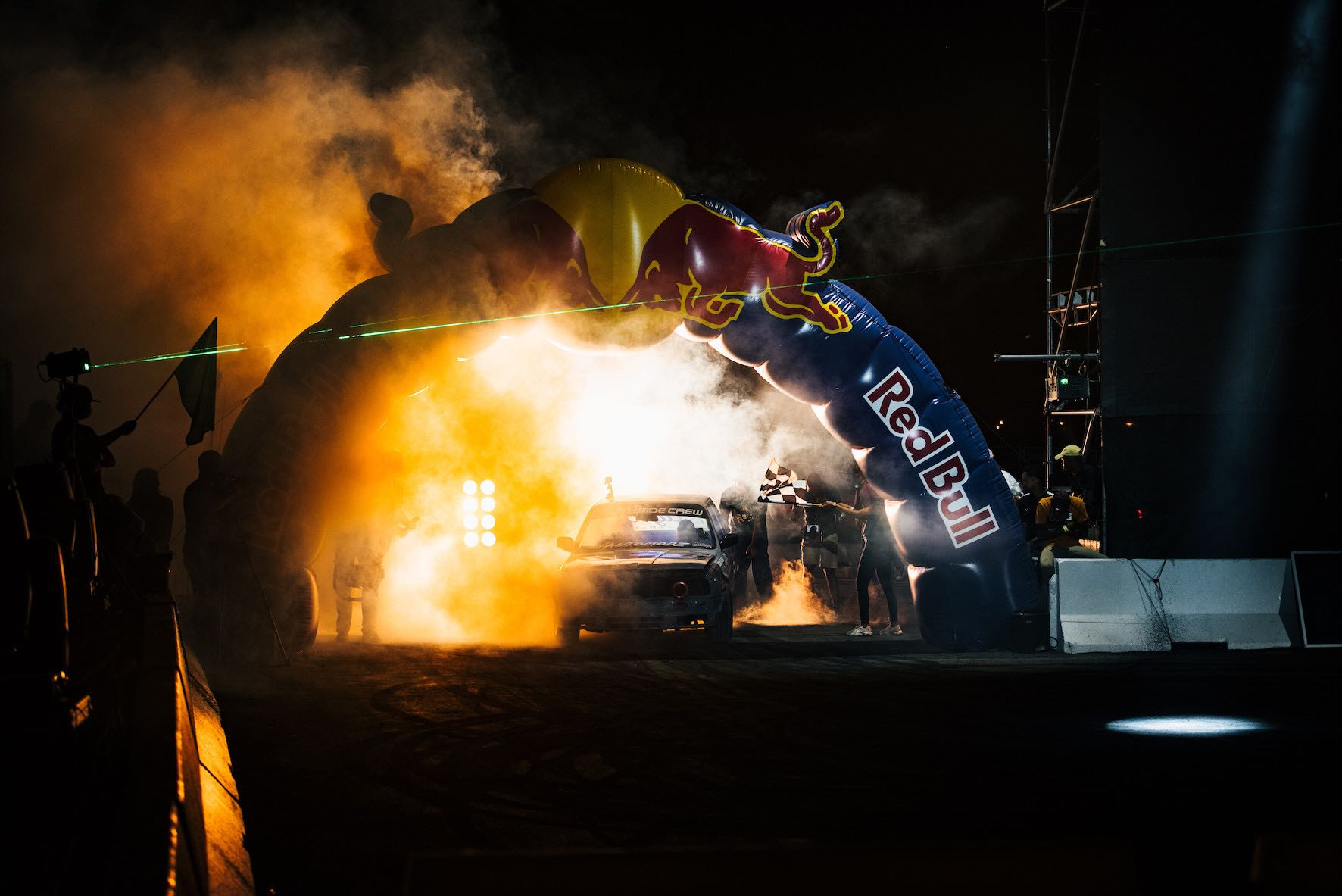 Participant performs during the Red Bull Shay'iMoto in Johannesburg