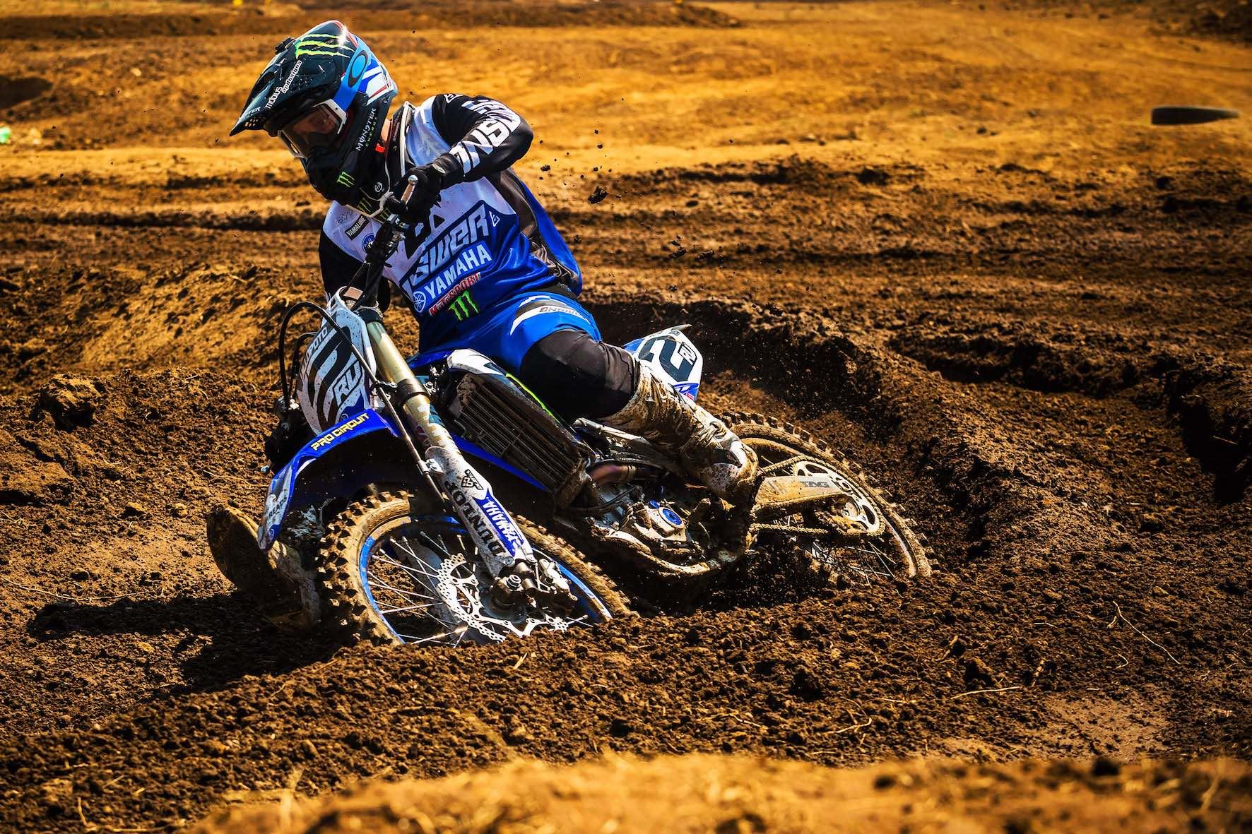 Ryan Villopoto riding the Terra Topia motocross track during the SA MX Nationals
