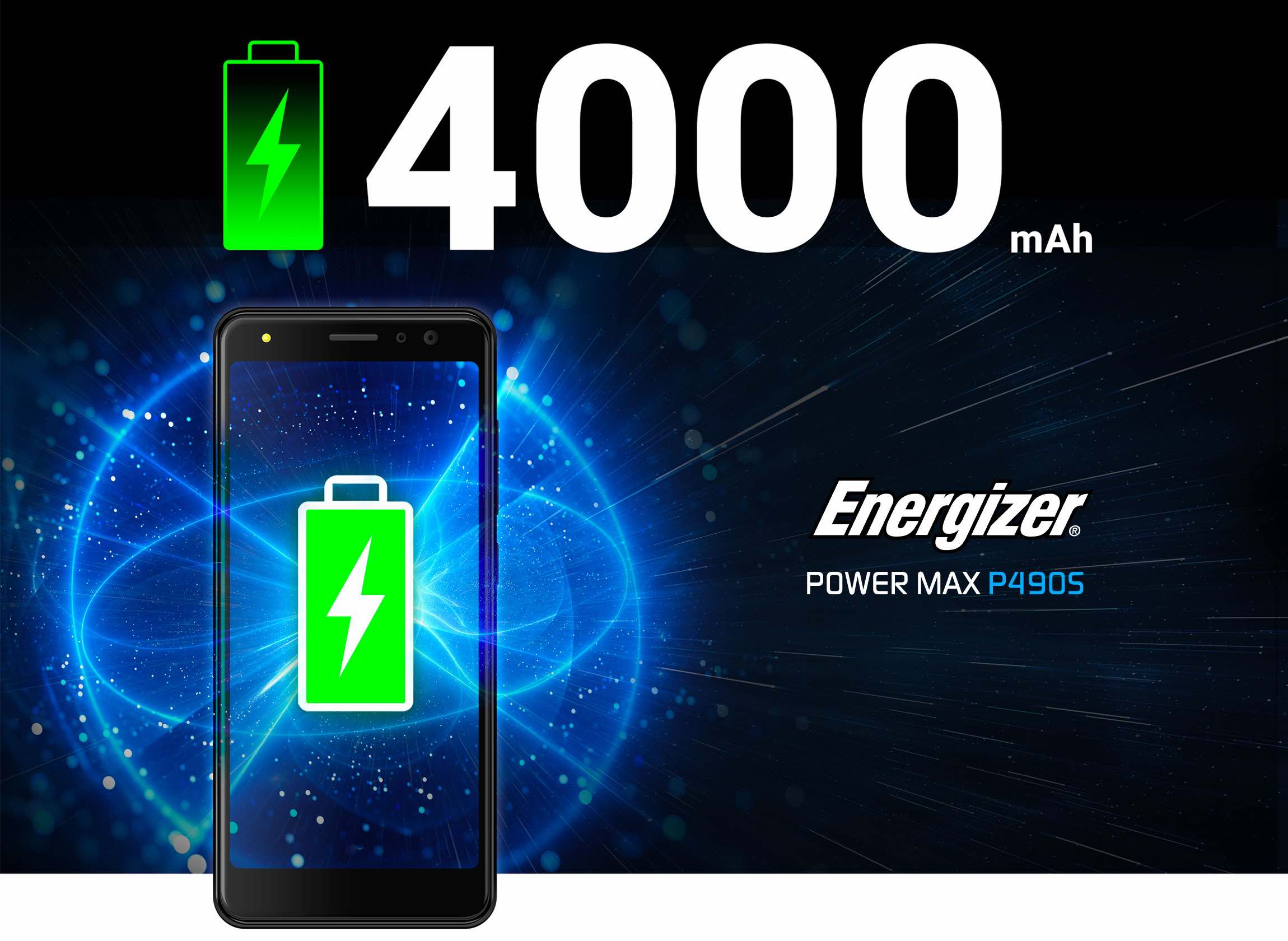 Energizer Power Max P490S 4G smartphone battery power