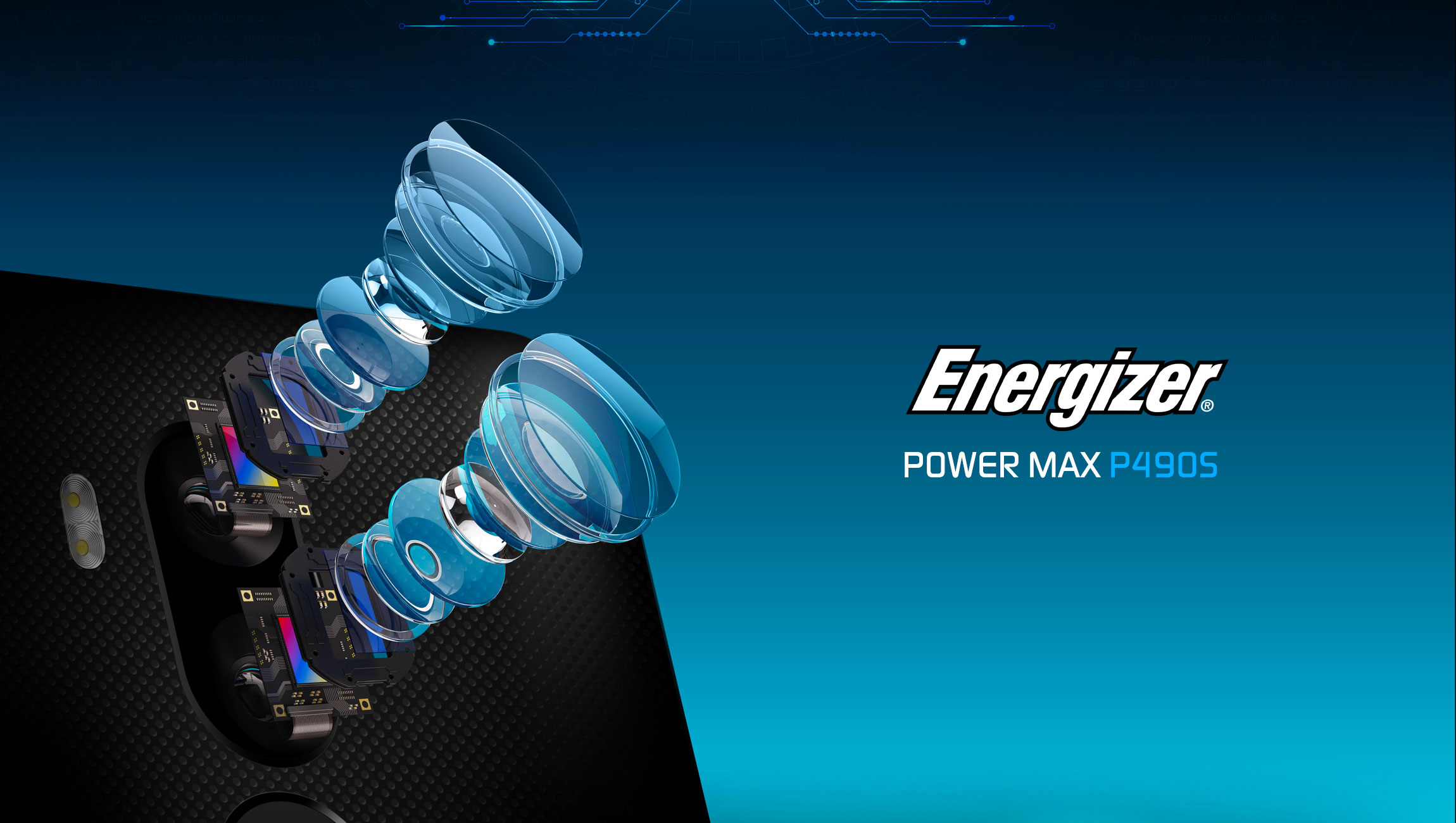 The Energizer Power Max P490S 4G smartphone features 4 cameras