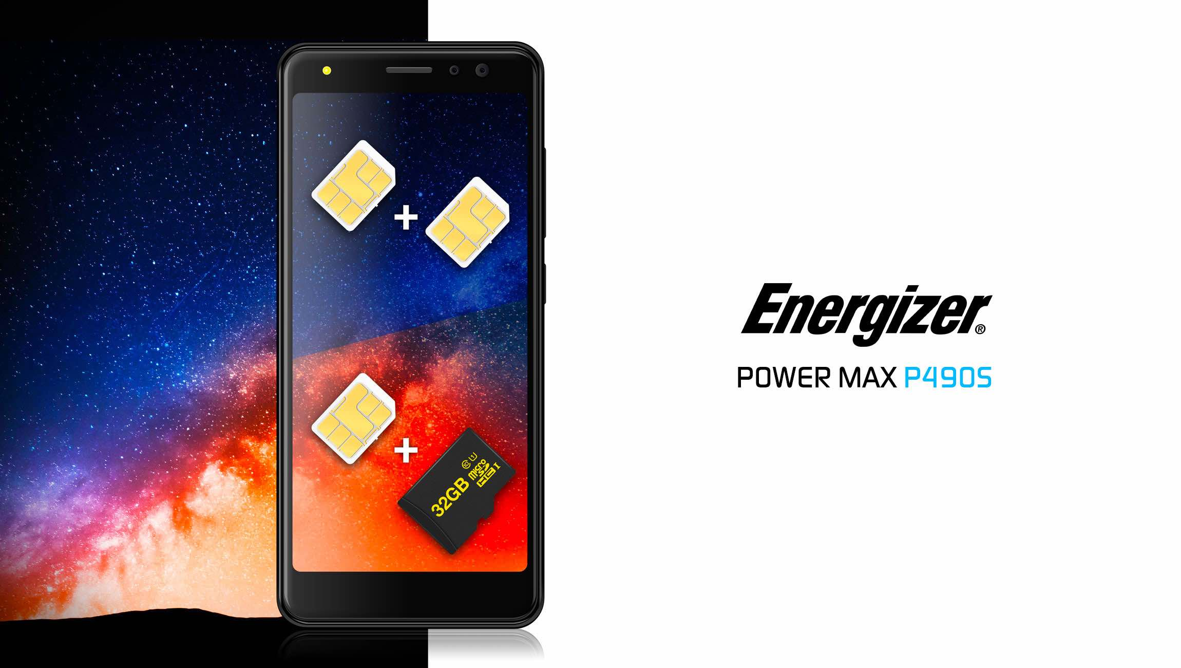 POWER MAX P490S also features dual sim card