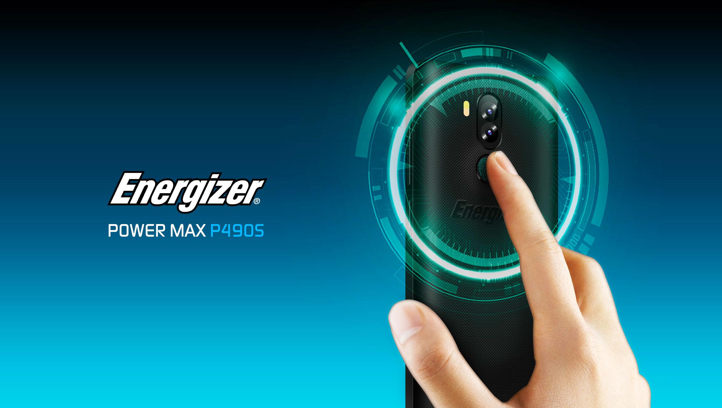 Energizer POWER MAX P490S fingerprint reader