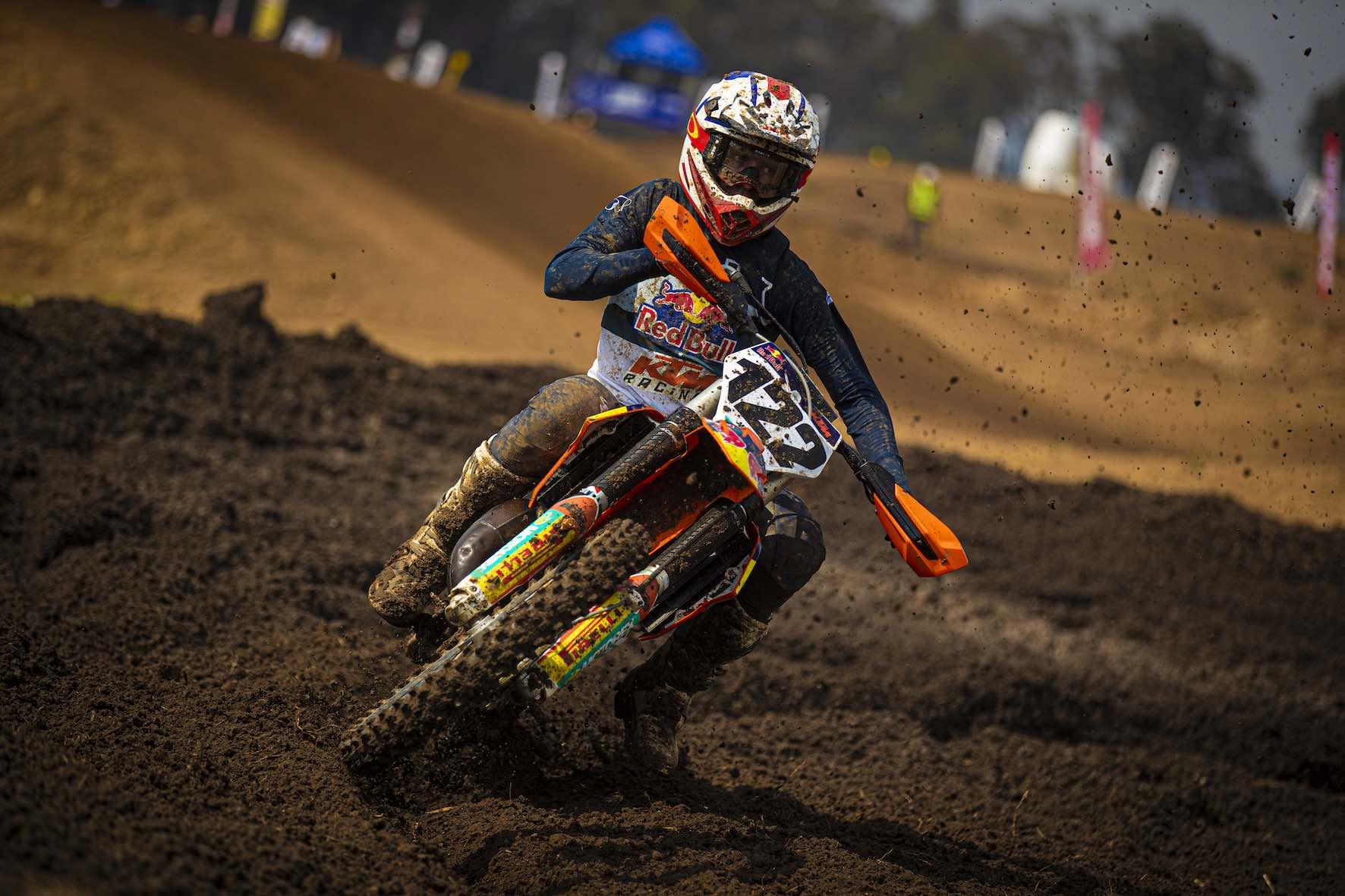 Camden Mc Lellan racing the final round of the 2019 SA MX Nationals