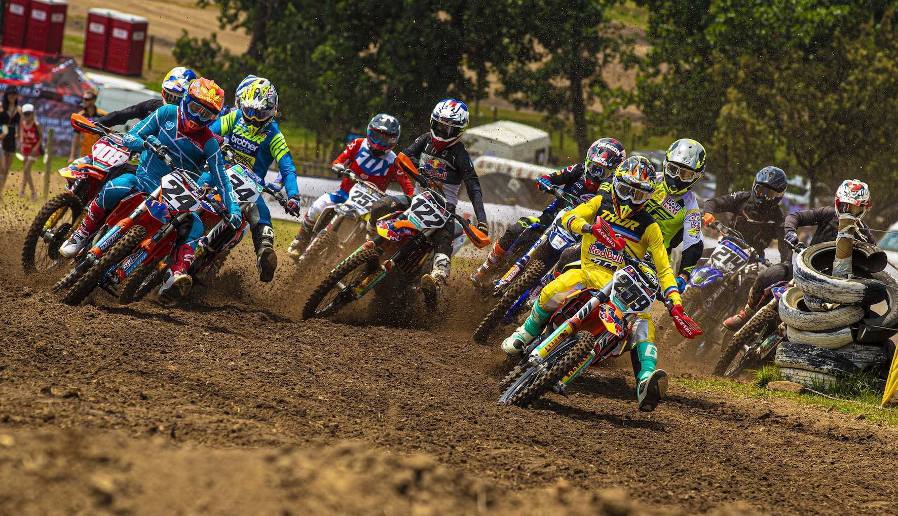 Joshua Mlimi racing the final round of the 2019 SA MX Nationals