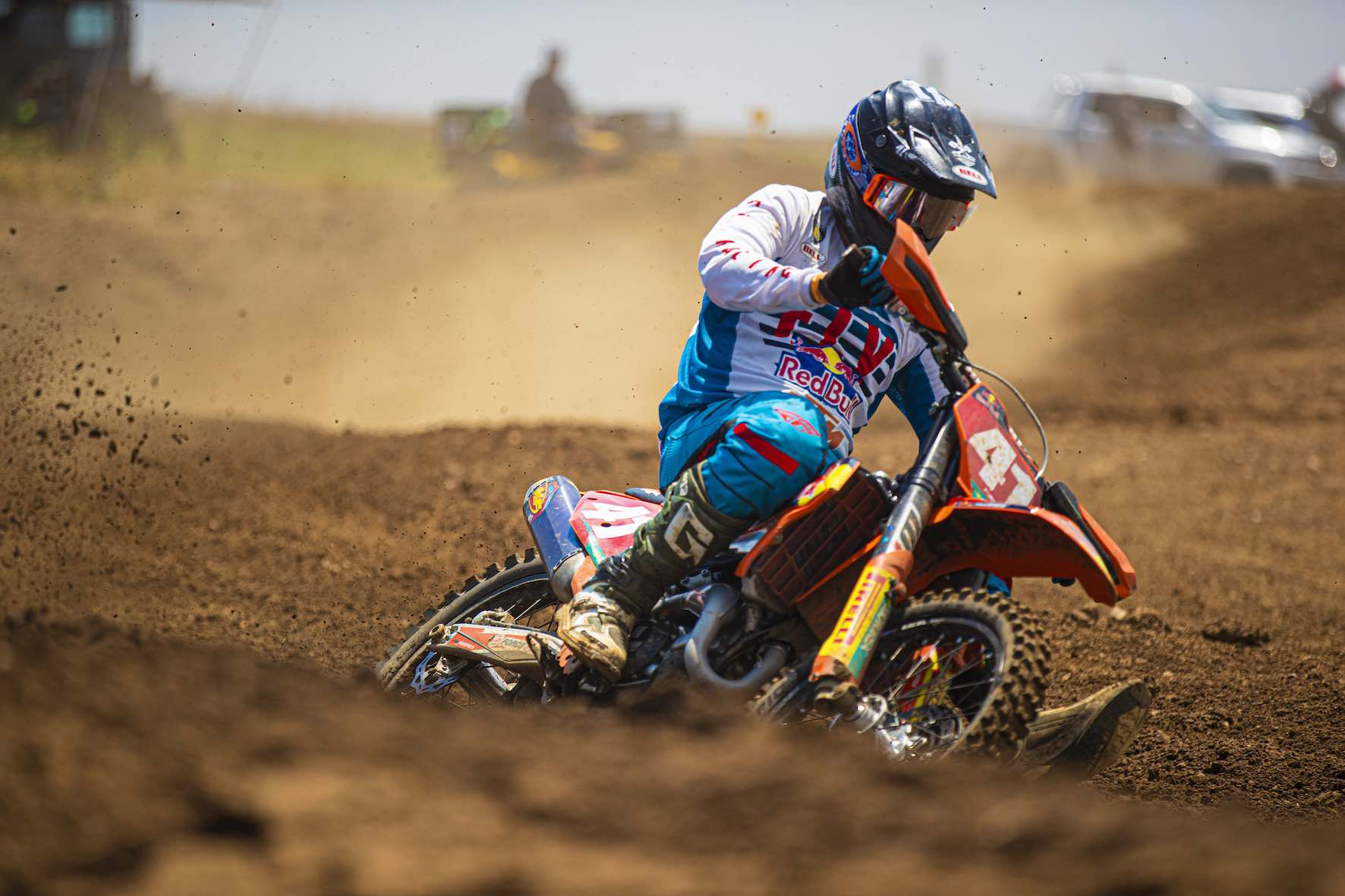 Tristan Purdon racing the final round of the 2019 SA Motocross Nationals