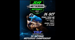 Details for the final round of the 2019 TRP Distributors South African National Motocross Championship