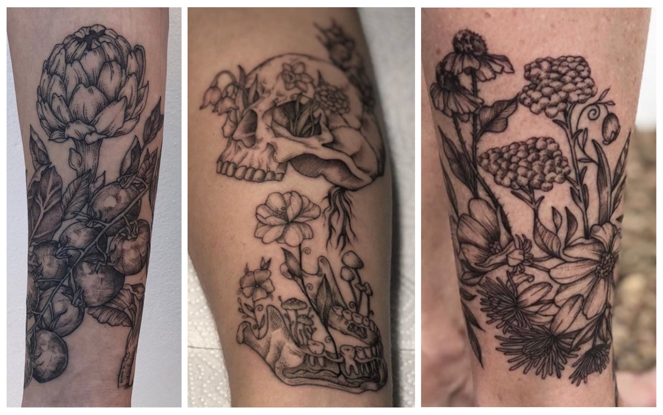 A selection of tattoos done by Kat Richter