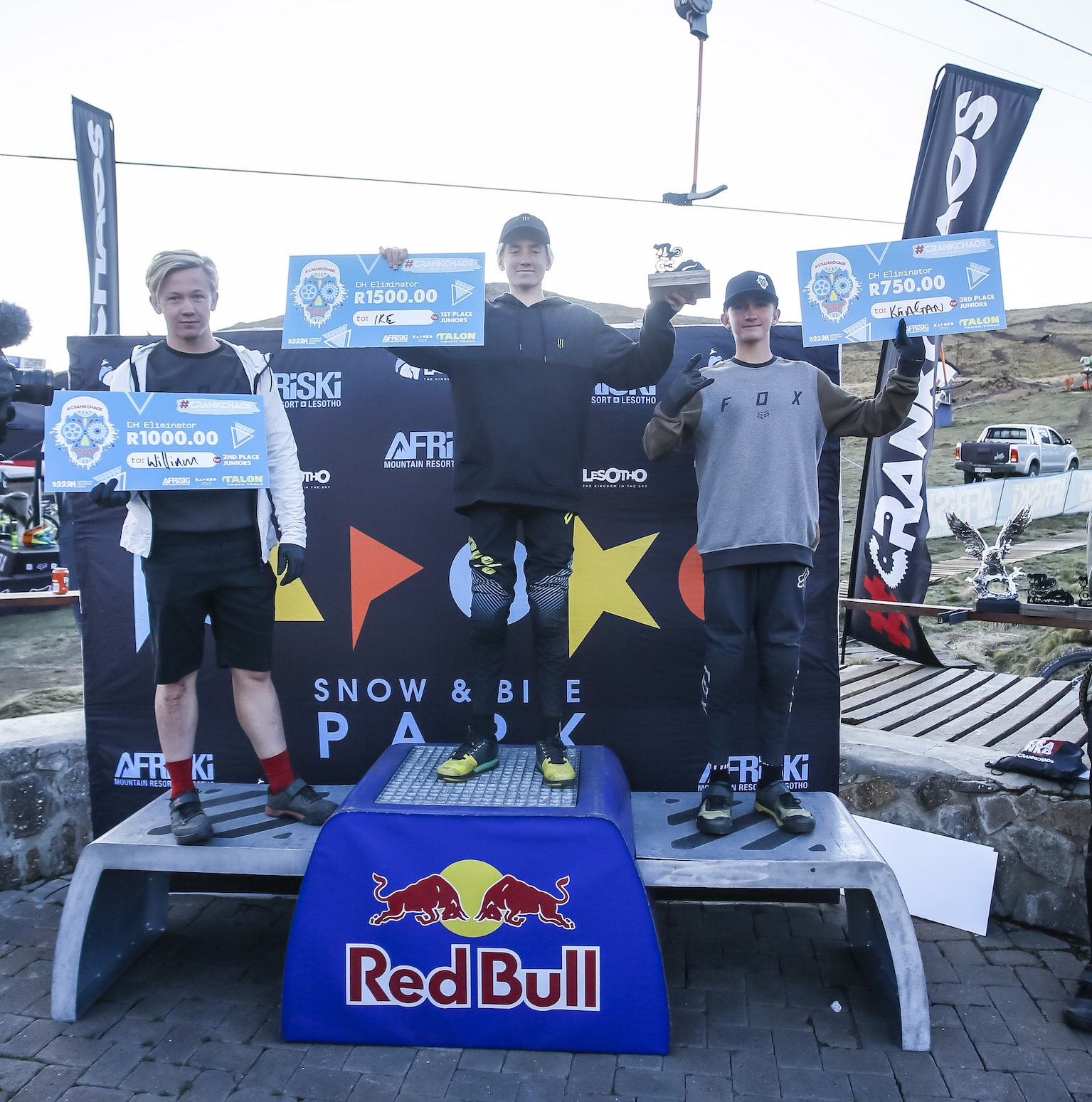 2019 CrankChaos Downhill MTB Junior Podium