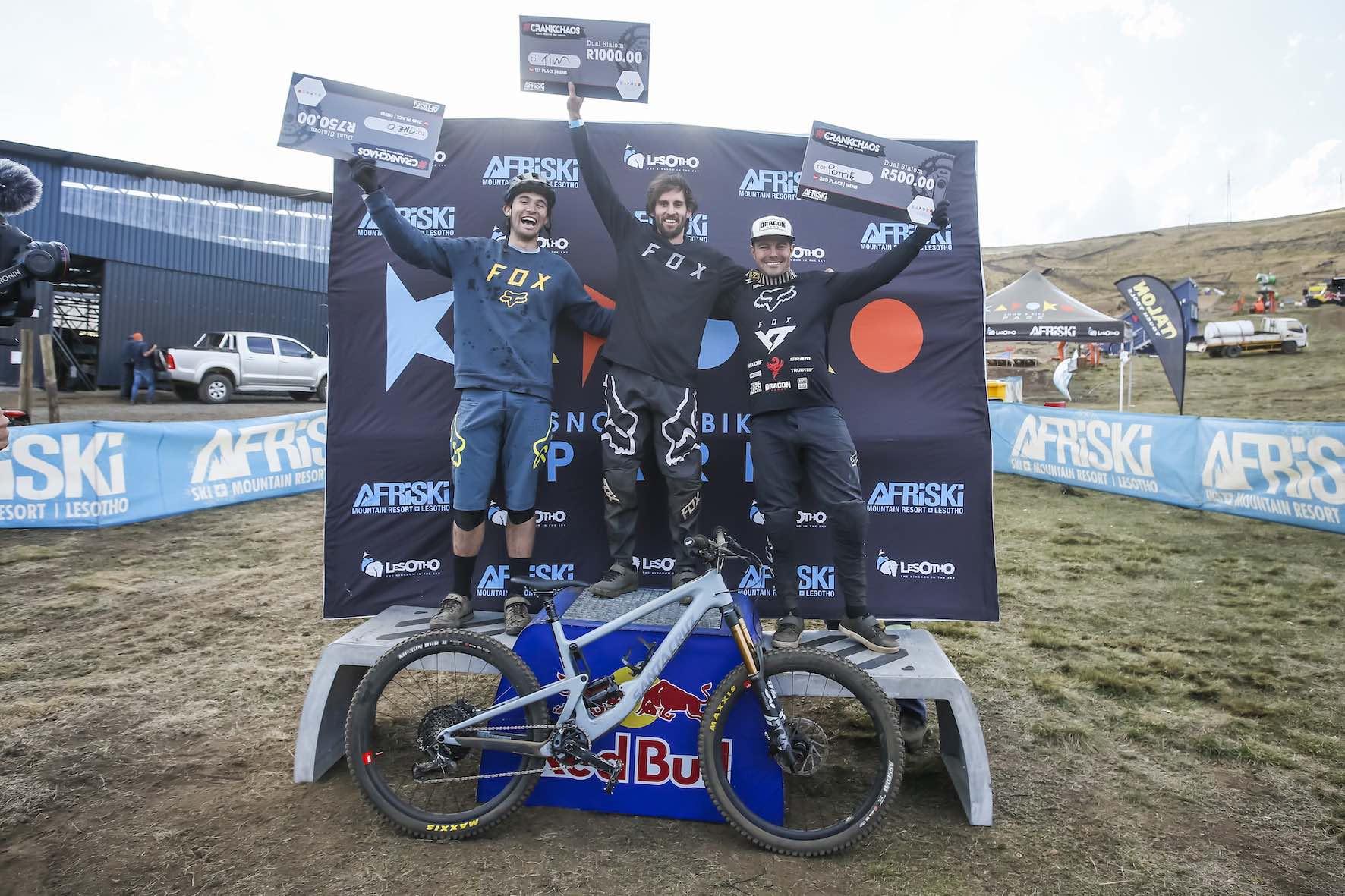 2019 CrankChaos Mens dual slalom podium