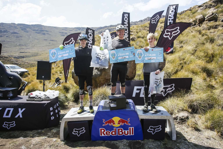 2019 CrankChaos Junior Enduro MTB podium