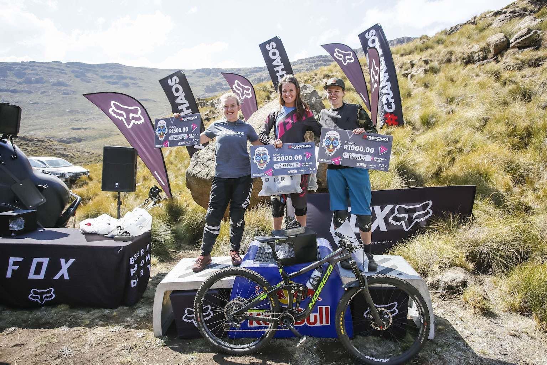 2019 CrankChaos Ladies Enduro MTB podium