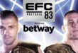 EFC will have their next major event in on 14 December at Time Square, Menlyn in Pretoria. EFC 83 promises to be one of the biggest MMA events of the year.