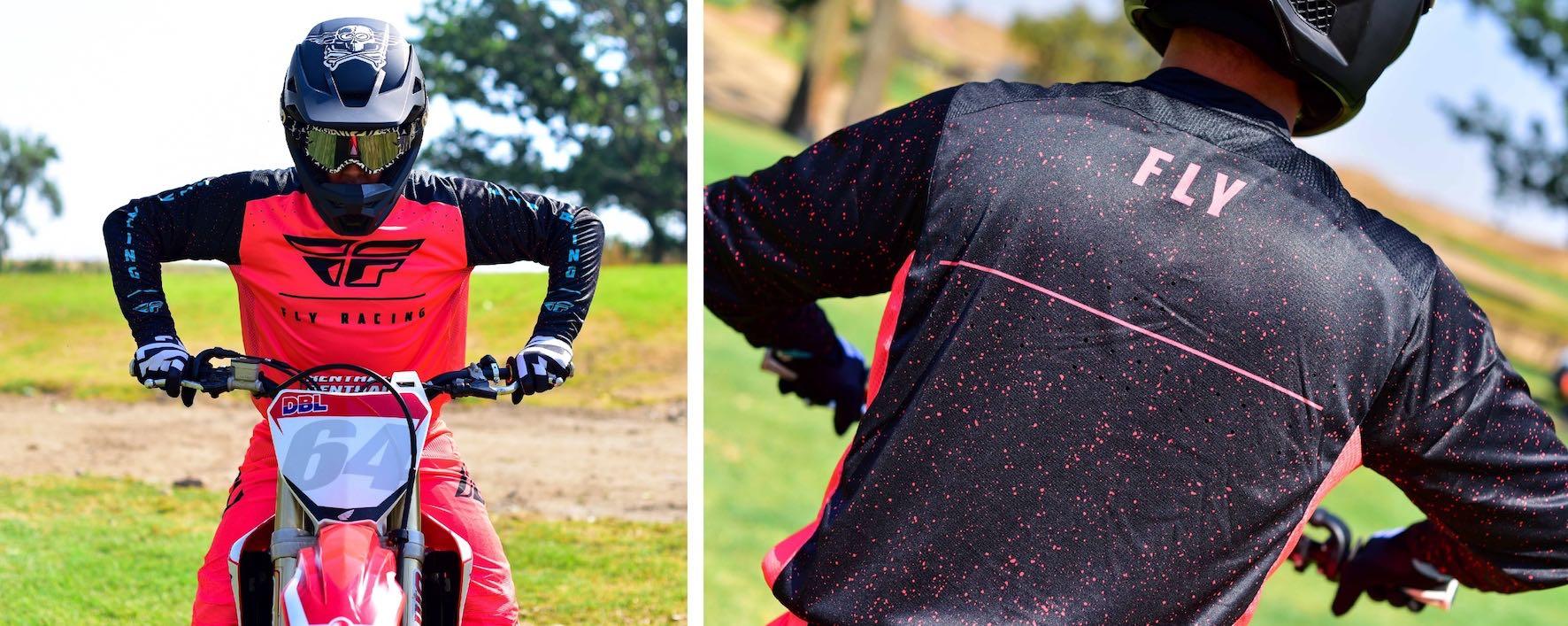 2020 Fly Lite Motocross Racewear jersey features