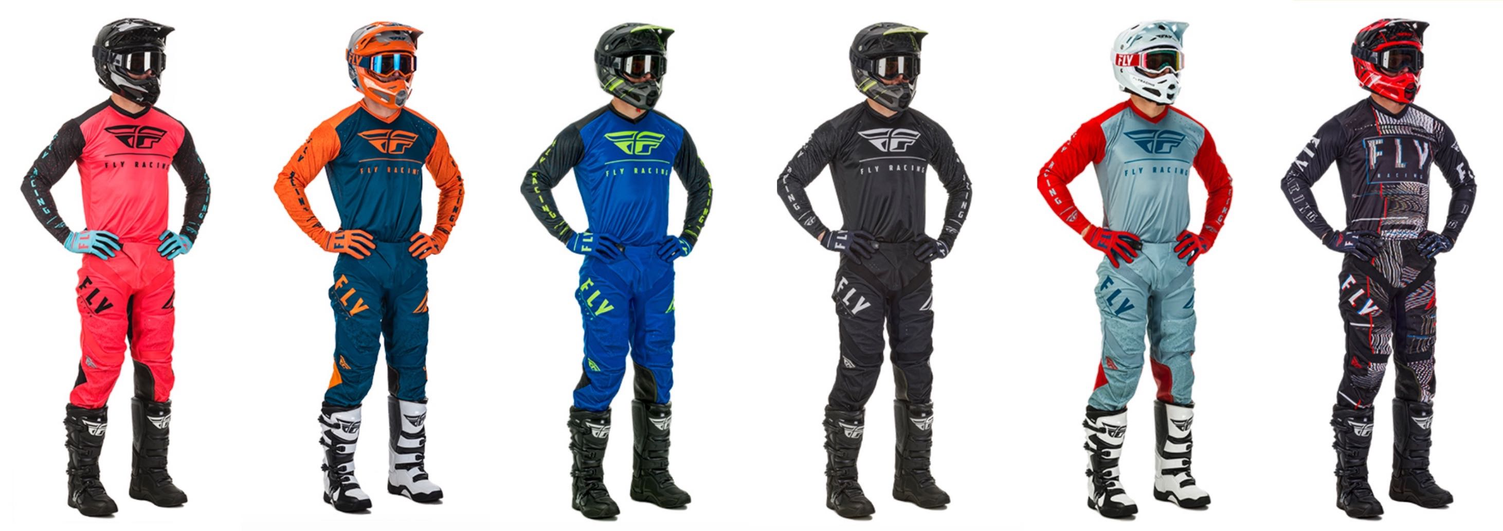 2020 Fly Lite Motocross Racewear available in the following colour-ways