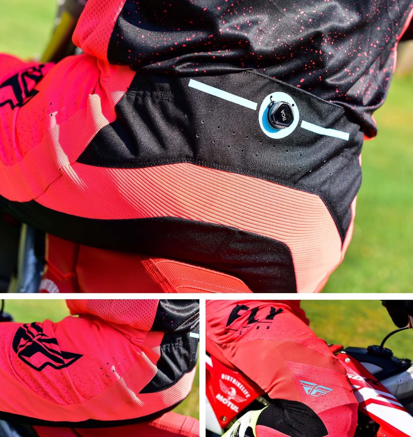 2020 Fly Lite Motocross Racewear pants features