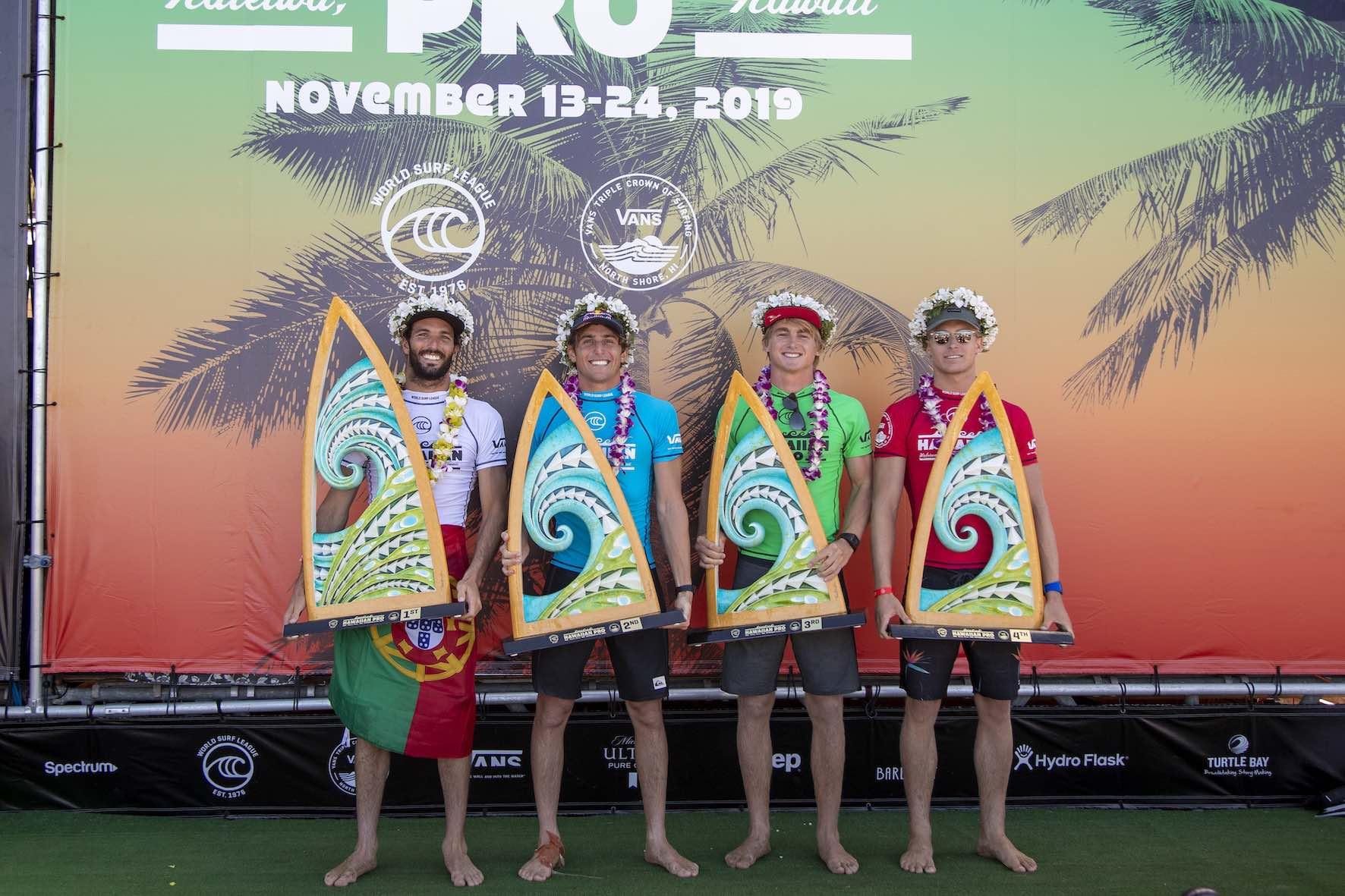 Matt McGillivray surfing his way to 3rd at the 2019 Hawaiian Pro