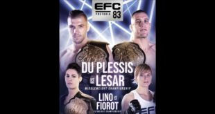 The last MMA fight night of the year, EFC 83 takes place this on 14 December with two exciting title fights headlining the card. See the full fight card here.