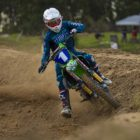Kayla Raaff winning the Ladies class at Round 1 of the 2020 SA Motocross Nationals