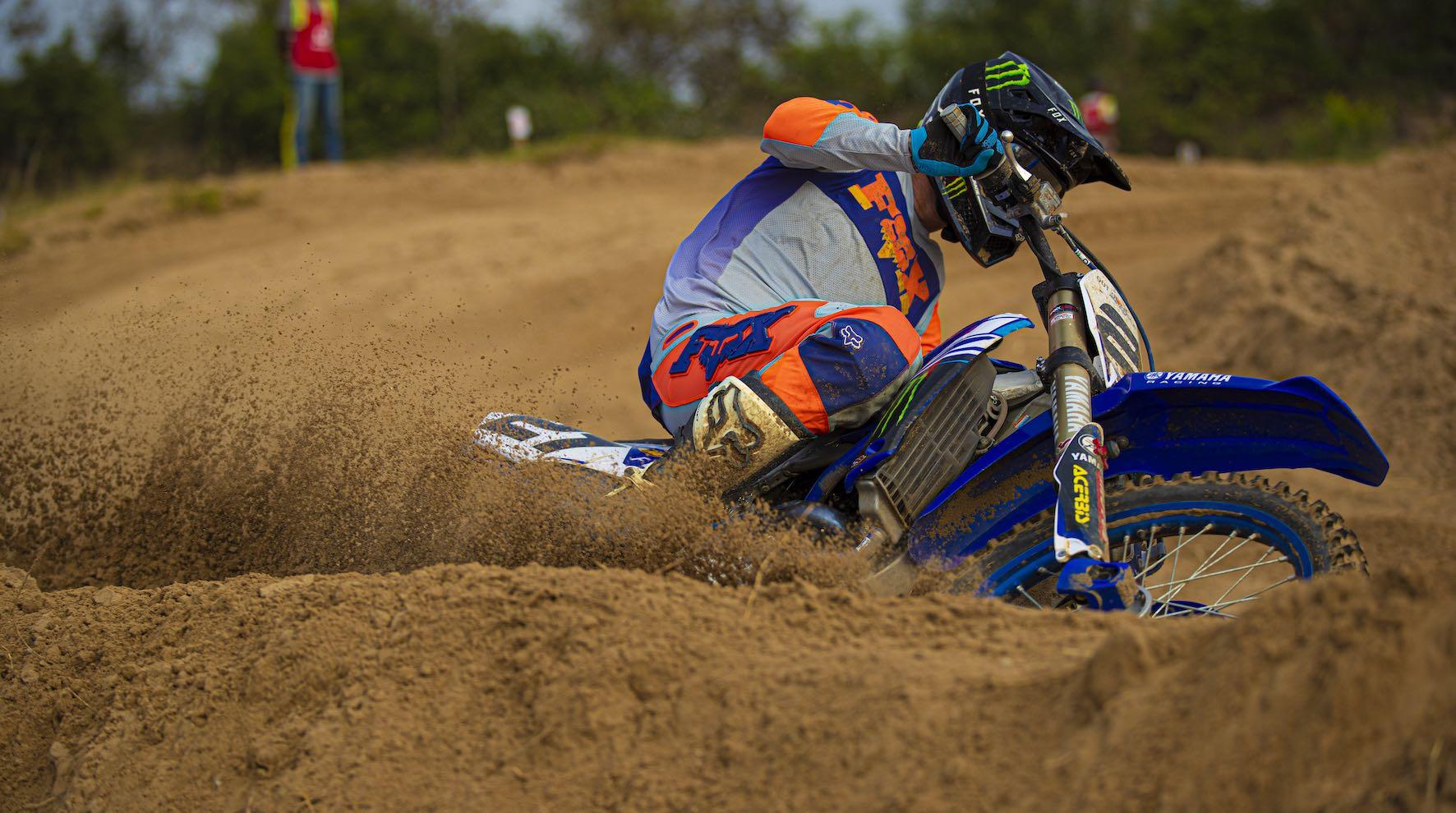 David Goosen winning the MX1 class at Round 1 of the 2020 SA Motocross Nationals