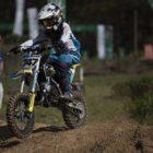 Jordan van Wyk winning the 65cc class at Round 1 of the 2020 SA Motocross Nationals