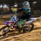 Daiyaan Manuel winning the 85cc class at Round 1 of the 2020 SA Motocross Nationals