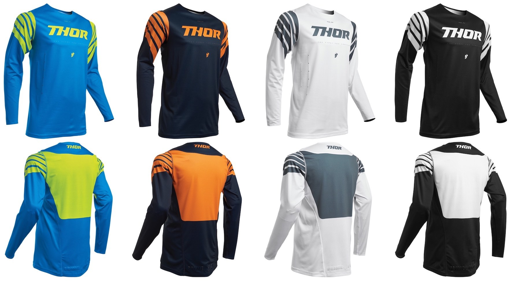 The 2020 Thor MX Prime Pro Jersey options