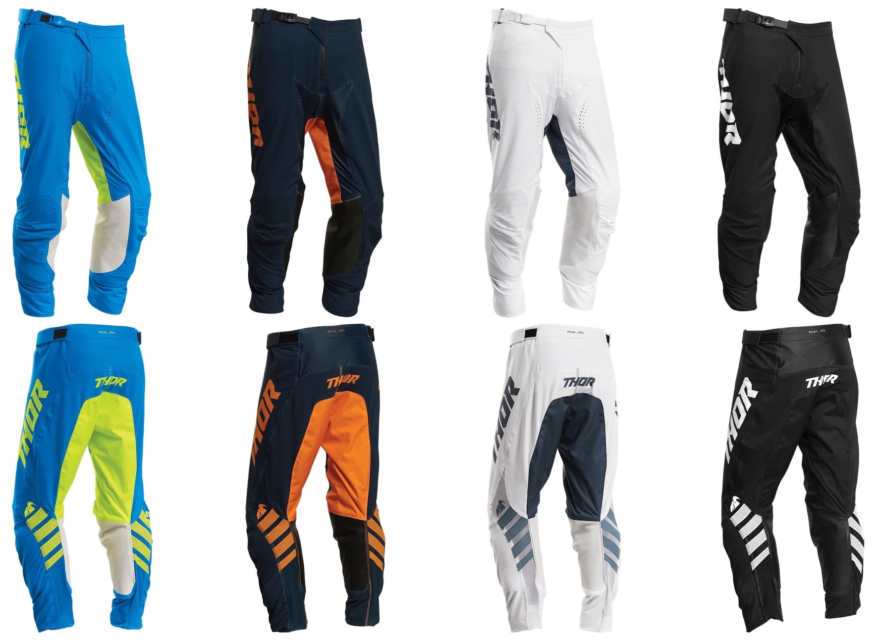The 2020 Thor MX Prime Pro Pants options