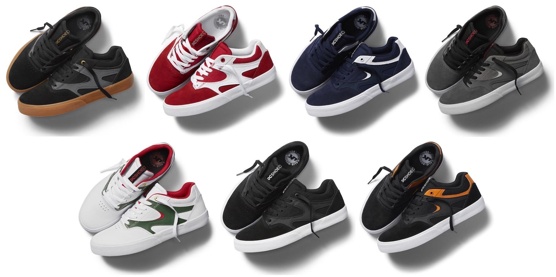DC Shoes Kalis Vulc colourway options
