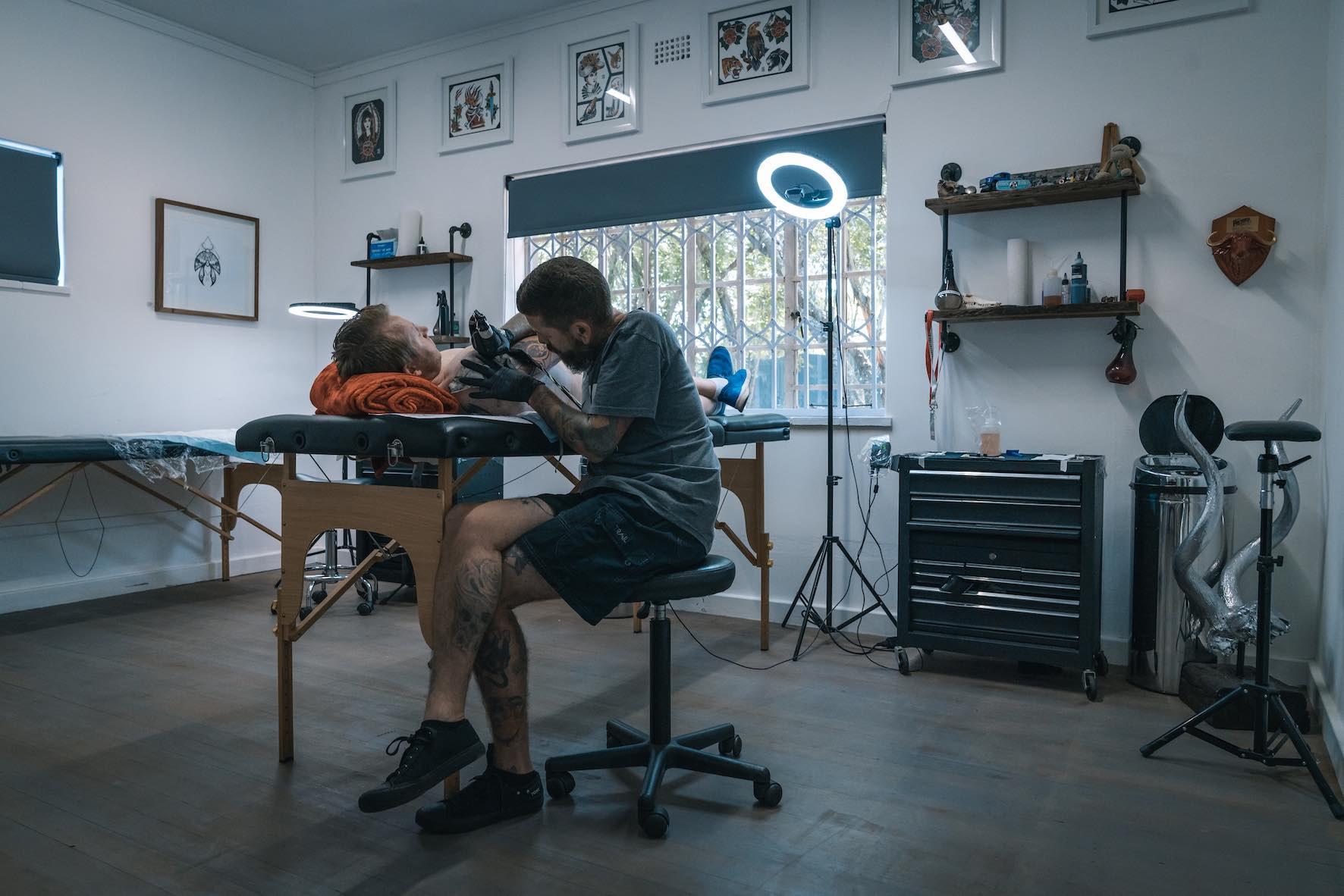 Jan 'Munky' Giebelmann of Fallen Heroes Tattoos