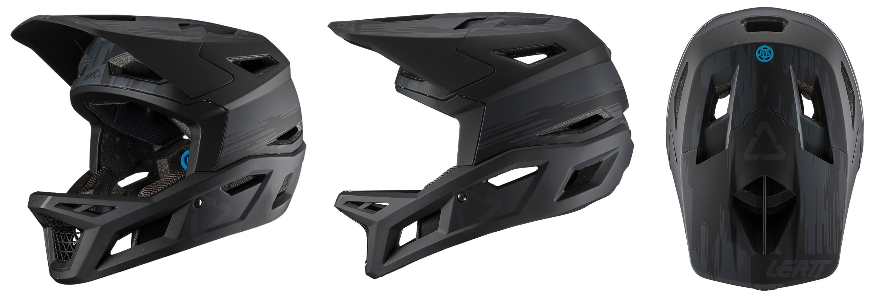 The Leatt DBX 4.0 Helmet in Black colour