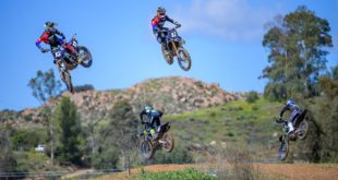 The Monster Energy Star Yamaha team rolls up on MX Heaven motocross track in Southern California to tear it up on their Factory YZ 250F Dirt Bikes.