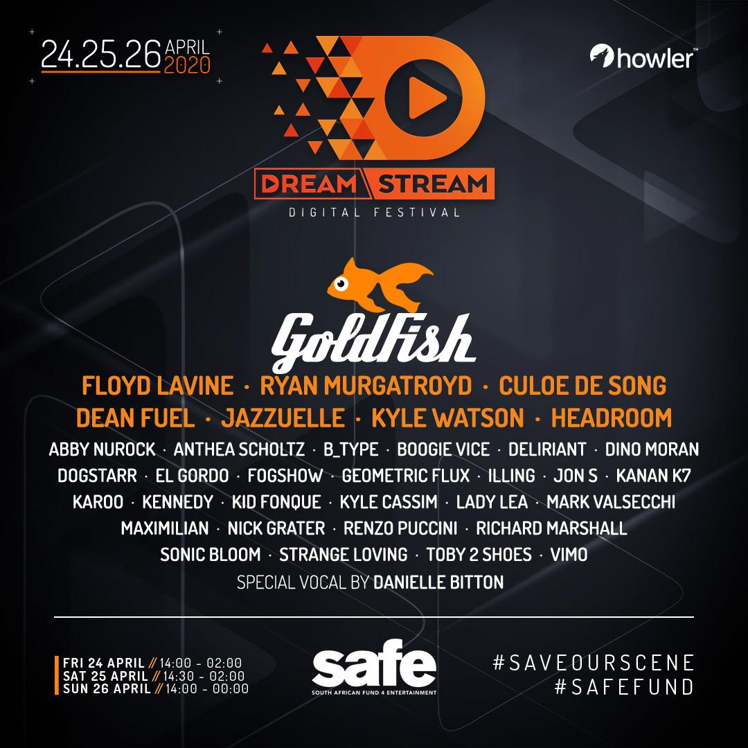 DreamStream Digital Festival line up!