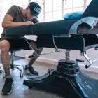 Tattoo Artist Bryan Du Rand preparing for a client