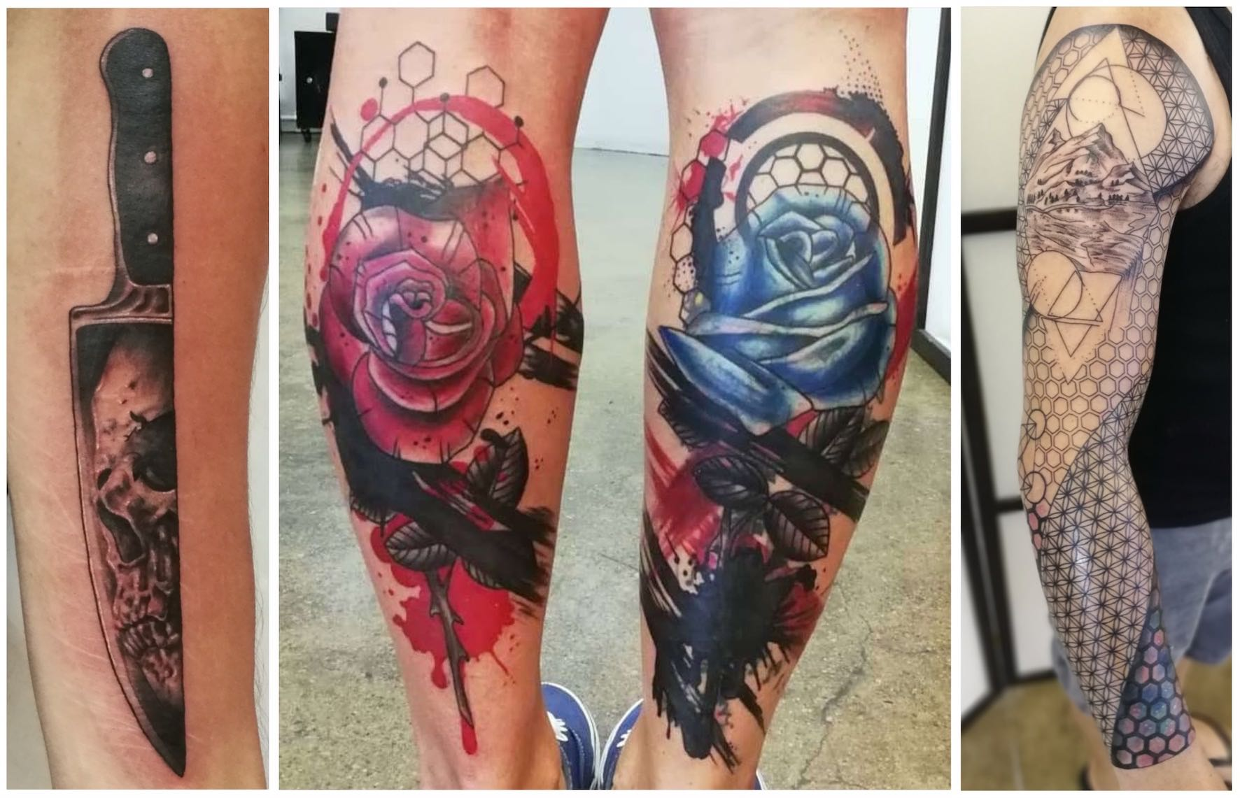 A selection of tattoos done by Sheldon Shaw