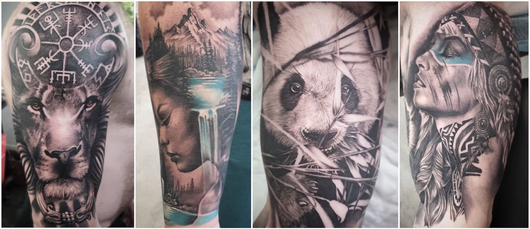 A selection of Japanese tattoo done by Bryan Du Rand
